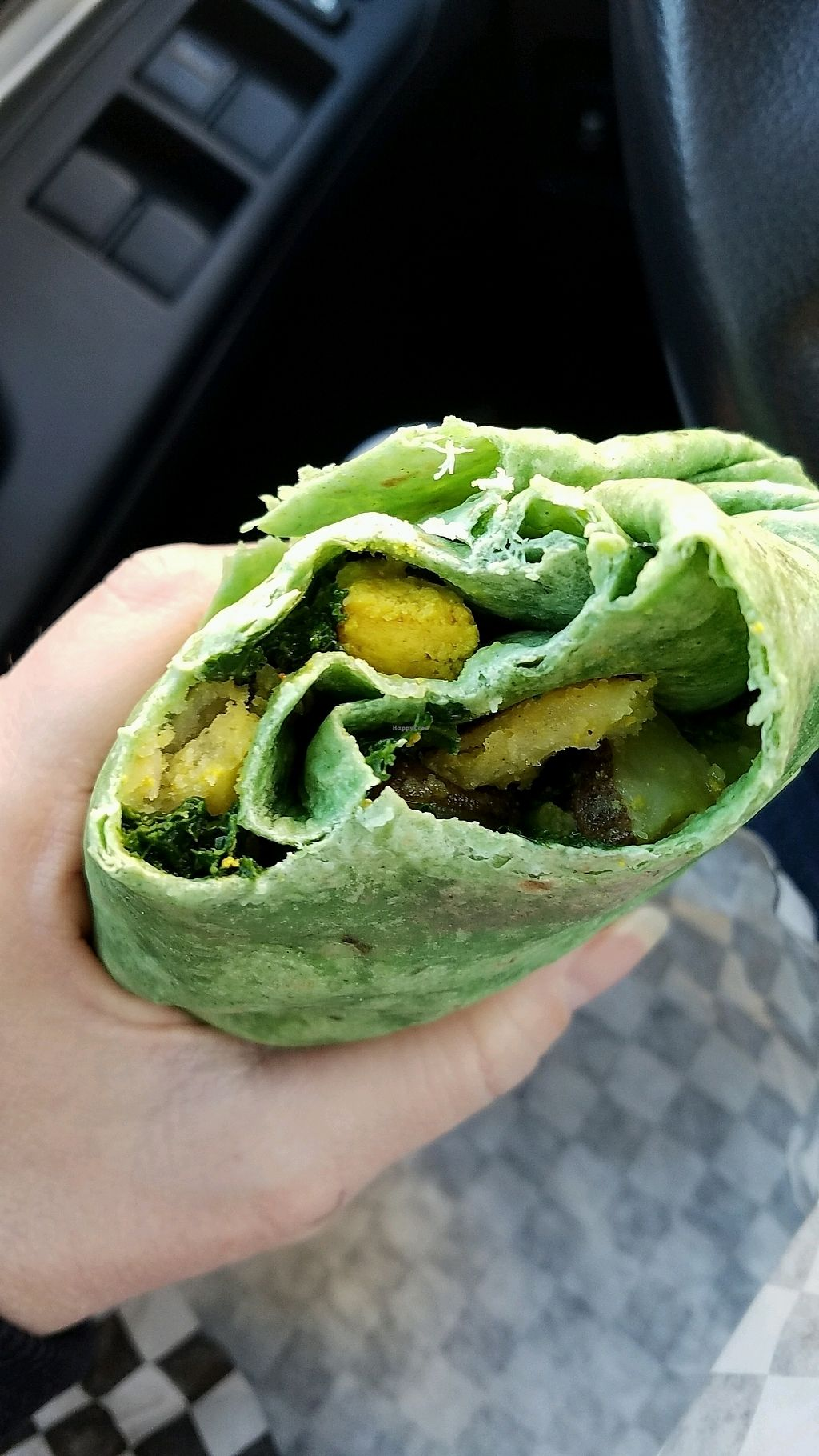 """Photo of Perks  by <a href=""""/members/profile/lv2compute"""">lv2compute</a> <br/>Tofu Kale breakfast wrap <br/> January 14, 2018  - <a href='/contact/abuse/image/104643/346621'>Report</a>"""