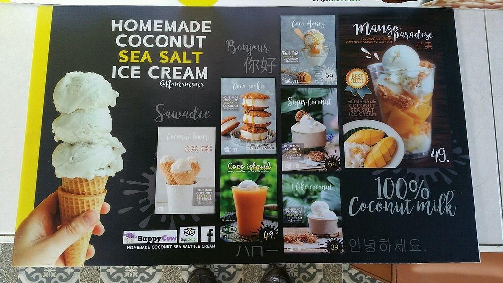 "Photo of Namamema - Coconut Sea Salt Ice Cream  by <a href=""/members/profile/Mike%20Munsie"">Mike Munsie</a> <br/>menu <br/> February 9, 2018  - <a href='/contact/abuse/image/104658/356741'>Report</a>"