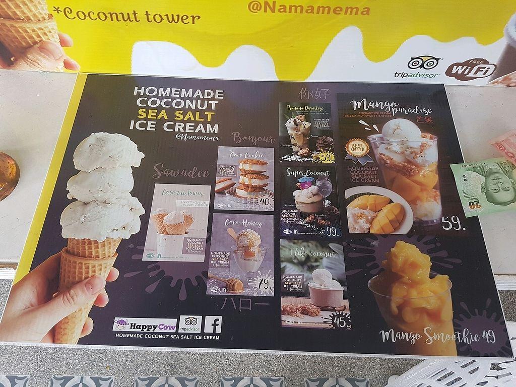 "Photo of Namamema - Coconut Sea Salt Ice Cream  by <a href=""/members/profile/Wanderingvegan"">Wanderingvegan</a> <br/>Namamema menu April 2018 <br/> April 13, 2018  - <a href='/contact/abuse/image/104658/384974'>Report</a>"