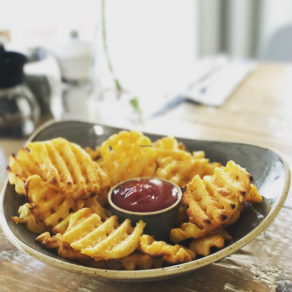 "Photo of The Pizza Cafe  by <a href=""/members/profile/MichaelThuell"">MichaelThuell</a> <br/>The best fries! Vegan garlic mayo available!  <br/> January 23, 2018  - <a href='/contact/abuse/image/104664/350207'>Report</a>"
