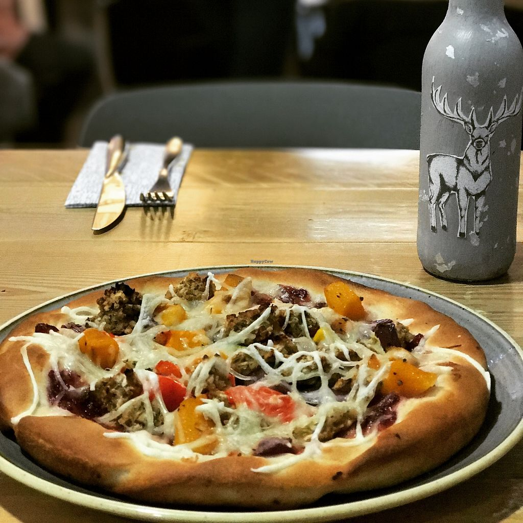 "Photo of The Pizza Cafe  by <a href=""/members/profile/MichaelThuell"">MichaelThuell</a> <br/>Vegan Christmas pizza!  <br/> January 23, 2018  - <a href='/contact/abuse/image/104664/350208'>Report</a>"