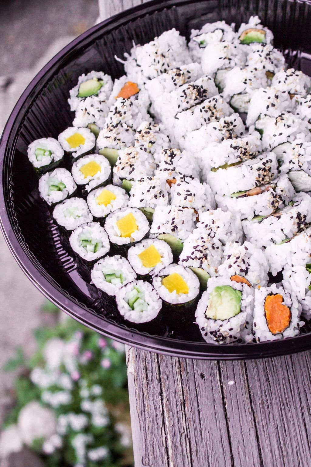"""Photo of Capilano Sushi  by <a href=""""/members/profile/jileila"""">jileila</a> <br/>Veggie Party Tray <br/> November 10, 2017  - <a href='/contact/abuse/image/104711/323777'>Report</a>"""