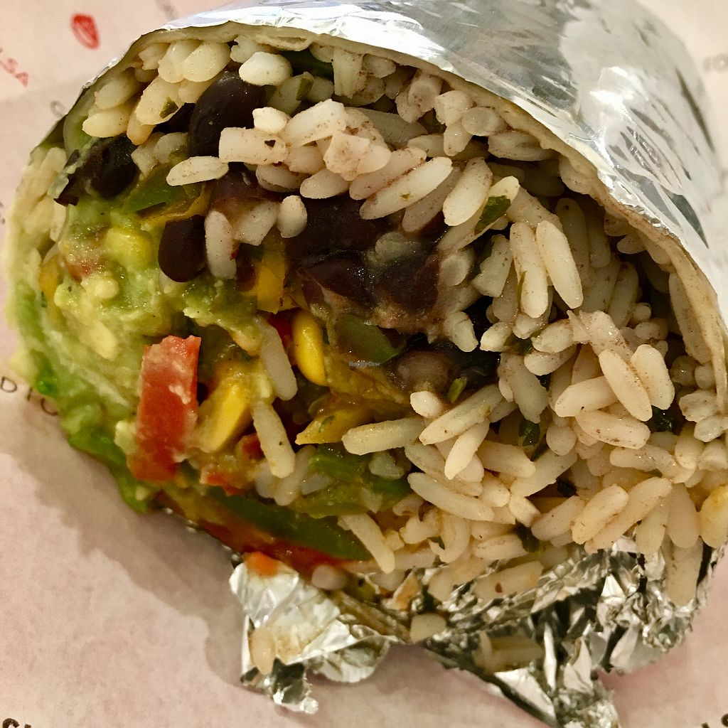 "Photo of Salsa Shop  by <a href=""/members/profile/RomaDhanani"">RomaDhanani</a> <br/>Vegan burrito <br/> November 26, 2017  - <a href='/contact/abuse/image/104718/329537'>Report</a>"