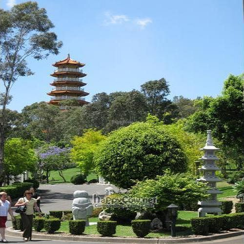 """Photo of Nan Tien Temple  by <a href=""""/members/profile/cvxmelody"""">cvxmelody</a> <br/>Pagoda in landscaped gardens <br/> December 24, 2009  - <a href='/contact/abuse/image/10471/3237'>Report</a>"""