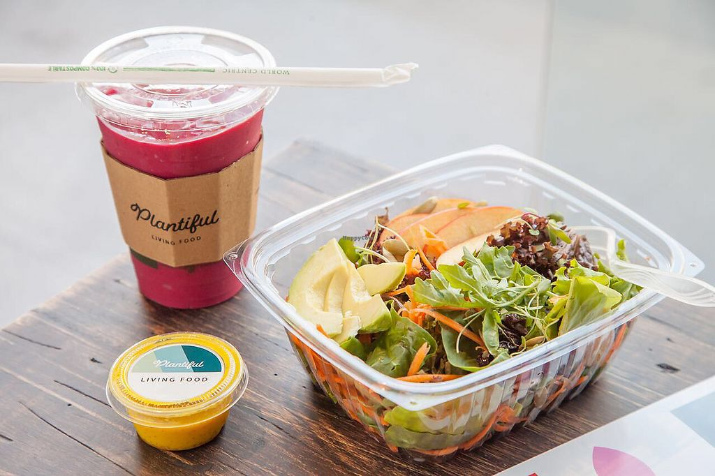 """Photo of Plantiful  by <a href=""""/members/profile/GiancarloMarsicovete"""">GiancarloMarsicovete</a> <br/>Beaming Salad & Unbeetable Smoothie ?? <br/> November 13, 2017  - <a href='/contact/abuse/image/104758/324983'>Report</a>"""