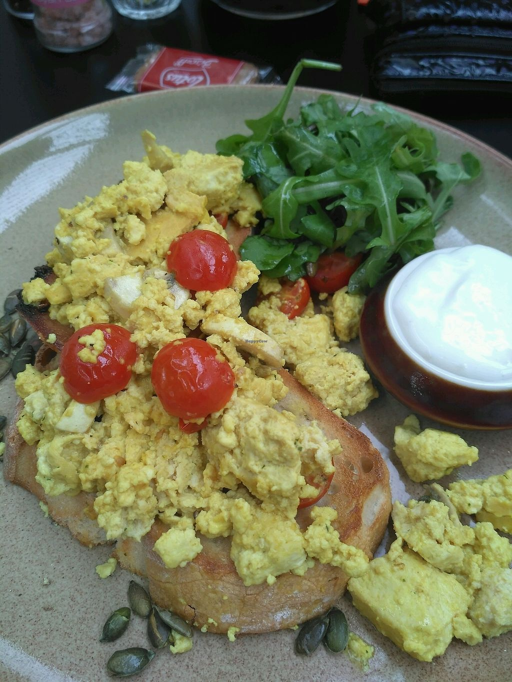 "Photo of St Mary in the Castle Cafe  by <a href=""/members/profile/Miggi"">Miggi</a> <br/>smoked tofu scramble with sourdough toast, vegan mayo <br/> November 11, 2017  - <a href='/contact/abuse/image/104766/324181'>Report</a>"