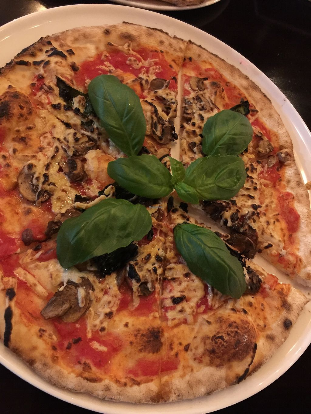 """Photo of MidiCi  by <a href=""""/members/profile/BeccaBochenek"""">BeccaBochenek</a> <br/>Vegan gluten free mushroom and basil pizza with Daiya cheese <br/> November 20, 2017  - <a href='/contact/abuse/image/104788/327603'>Report</a>"""