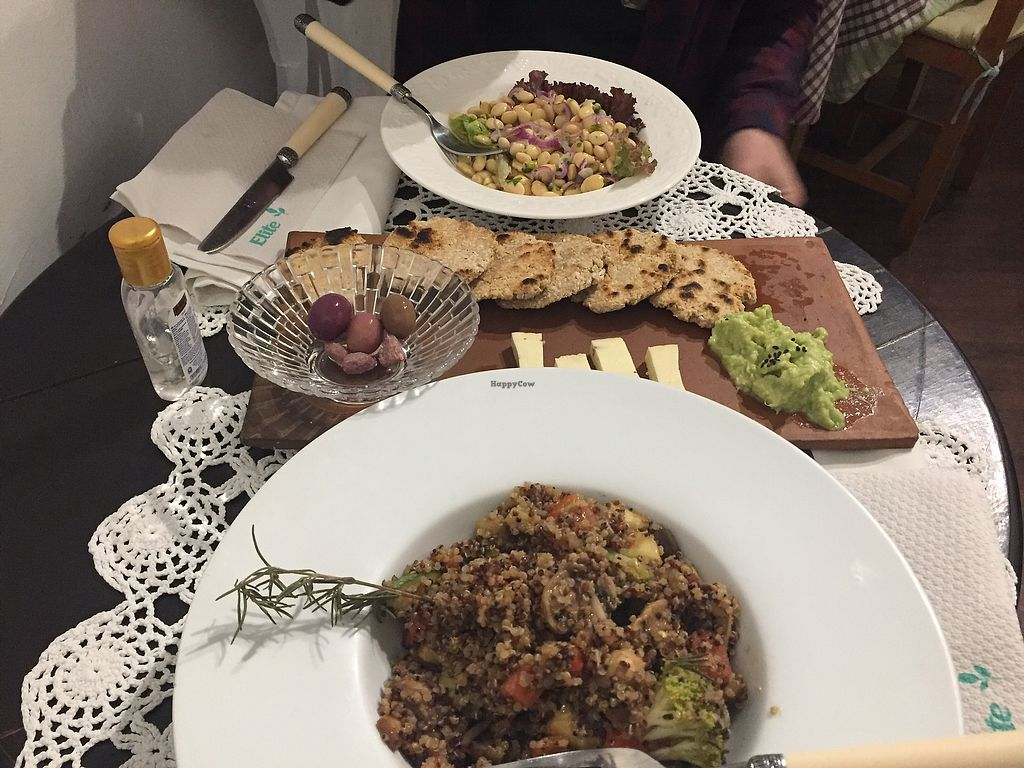 """Photo of El Patio Rojo  by <a href=""""/members/profile/Dianebg"""">Dianebg</a> <br/>Sauteed quinoa and veggies, vegan ceviche, guacamole, oat bread and cheese <br/> November 11, 2017  - <a href='/contact/abuse/image/104849/324437'>Report</a>"""