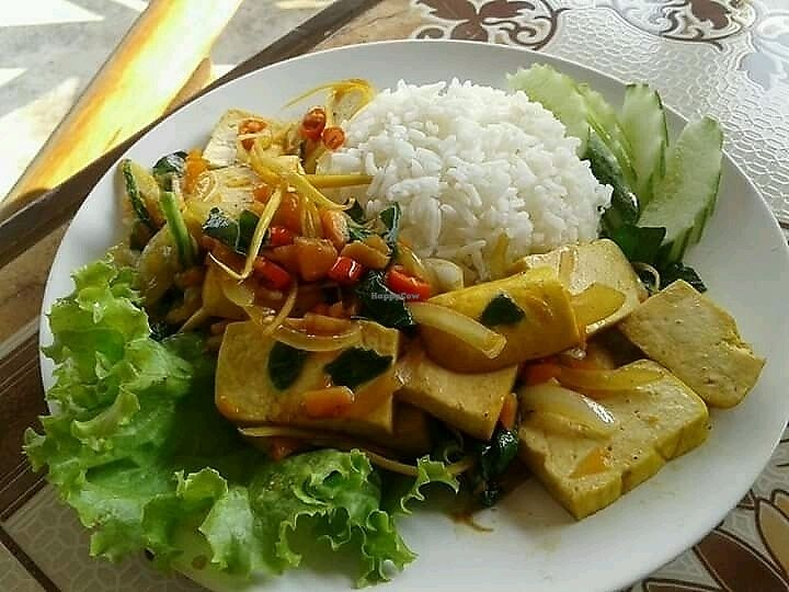 """Photo of Give Green Farm House Restaurant  by <a href=""""/members/profile/GiveGreenFarmHouseRes"""">GiveGreenFarmHouseRes</a> <br/>Fried taufoo ginger <br/> November 13, 2017  - <a href='/contact/abuse/image/104911/325301'>Report</a>"""