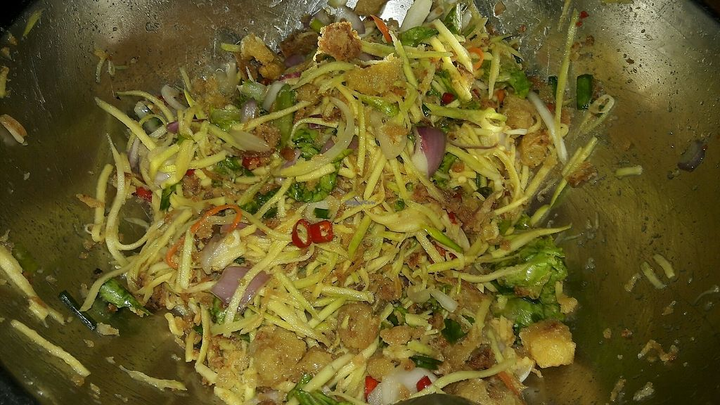 """Photo of Give Green Farm House Restaurant  by <a href=""""/members/profile/GiveGreenFarmHouseRes"""">GiveGreenFarmHouseRes</a> <br/>Mango salad <br/> November 13, 2017  - <a href='/contact/abuse/image/104911/325304'>Report</a>"""