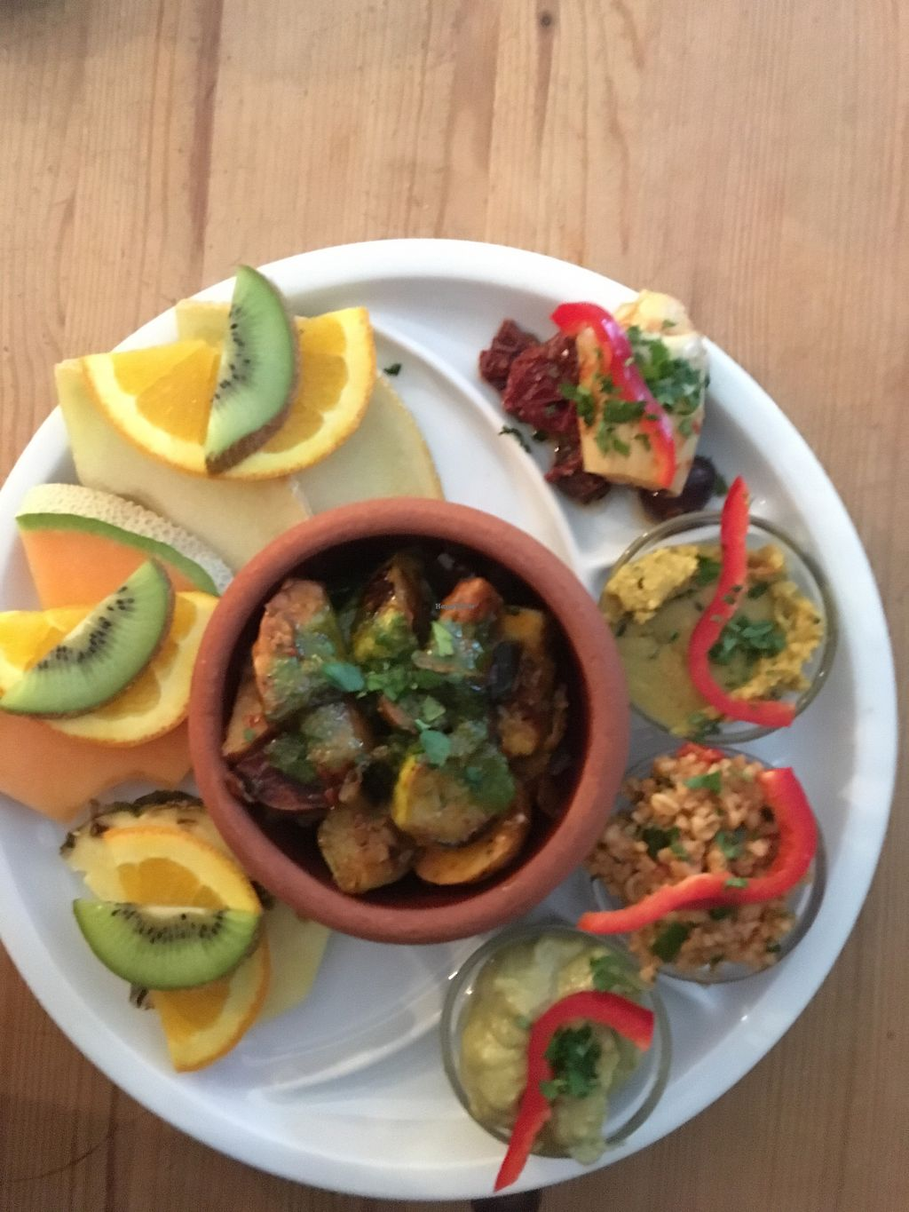 "Photo of Neither Yesterday Nor Tomorrow  by <a href=""/members/profile/JonoReilly"">JonoReilly</a> <br/>Vegan breakfast with antipasti, roast veg, hummus, couscous and fruit. Also comes with two bread rolls <br/> January 13, 2018  - <a href='/contact/abuse/image/104961/346055'>Report</a>"
