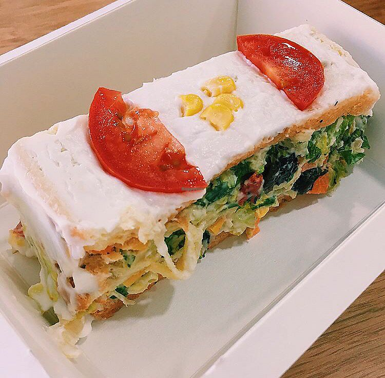 "Photo of Verdetariano  by <a href=""/members/profile/StephanieCohen"">StephanieCohen</a> <br/>Vegan lunch- veggies layered between bread and vegan mayo <br/> November 16, 2017  - <a href='/contact/abuse/image/104979/326214'>Report</a>"