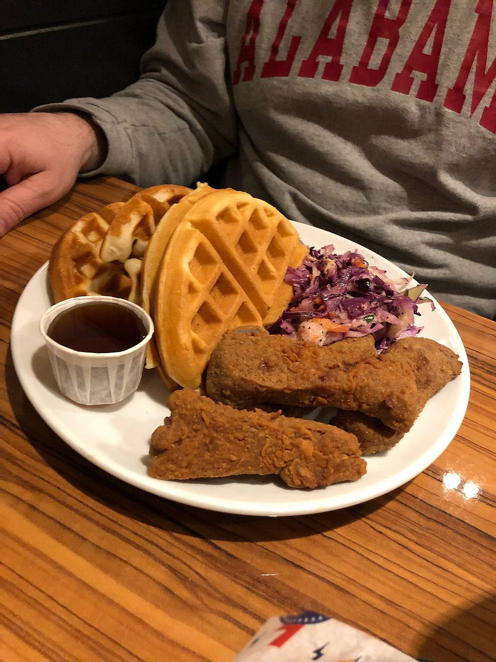 """Photo of The Diner - Islington  by <a href=""""/members/profile/CourtneyK"""">CourtneyK</a> <br/>Chicken n waffles <br/> April 13, 2018  - <a href='/contact/abuse/image/104998/384955'>Report</a>"""