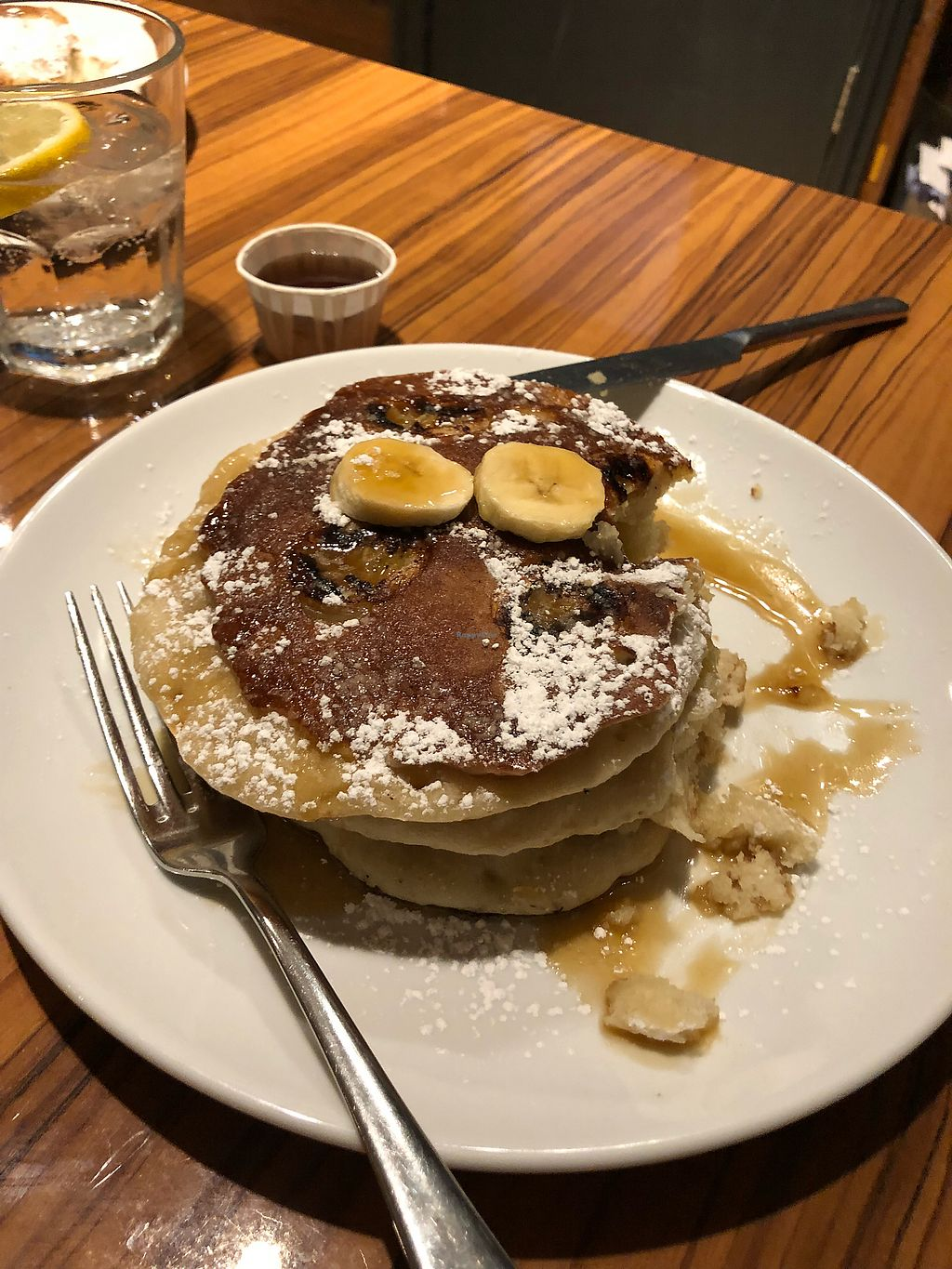 """Photo of The Diner - Islington  by <a href=""""/members/profile/CourtneyK"""">CourtneyK</a> <br/>Banana pancakes <br/> April 13, 2018  - <a href='/contact/abuse/image/104998/384957'>Report</a>"""