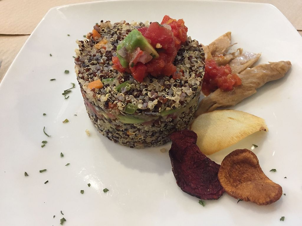 "Photo of El Manjar del Conuco  by <a href=""/members/profile/Ileana74"">Ileana74</a> <br/>Timbal QUINOA and vegan chicken <br/> November 15, 2017  - <a href='/contact/abuse/image/105000/325915'>Report</a>"