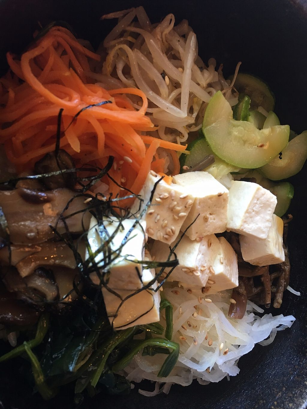 "Photo of Kabuki Korean Cafe  by <a href=""/members/profile/TraciH"">TraciH</a> <br/>Bibimbap Bowl with Tofu (no egg) - Delish! <br/> November 13, 2017  - <a href='/contact/abuse/image/105006/325331'>Report</a>"