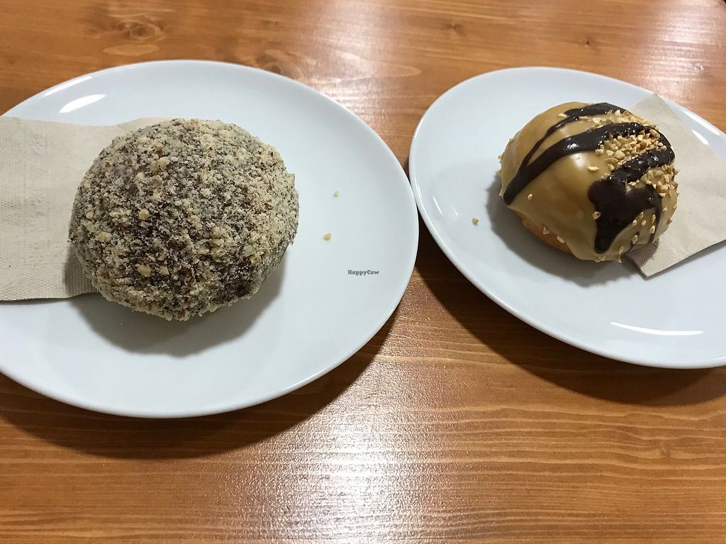 """Photo of Vegan Sweet Bar  by <a href=""""/members/profile/AnaBanannaPancake"""">AnaBanannaPancake</a> <br/>Nougat and caramel filled donuts <br/> February 3, 2018  - <a href='/contact/abuse/image/105011/354546'>Report</a>"""
