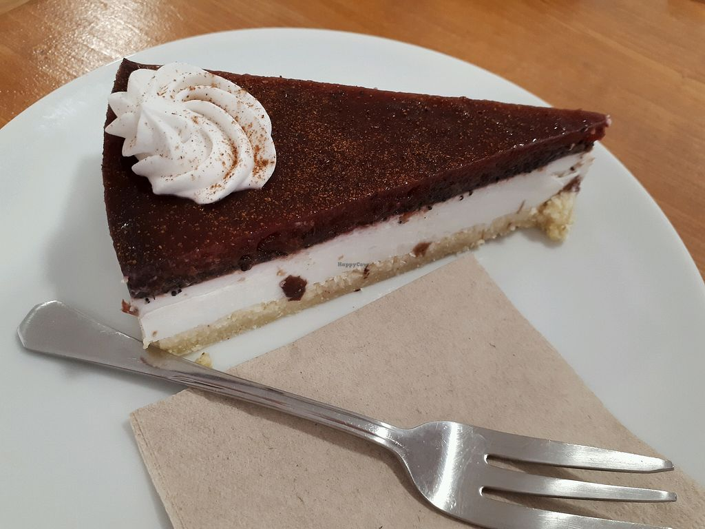 """Photo of Vegan Sweet Bar  by <a href=""""/members/profile/laty"""">laty</a> <br/>Plum poppy seed cheesecake (GF) <br/> April 29, 2018  - <a href='/contact/abuse/image/105011/392375'>Report</a>"""