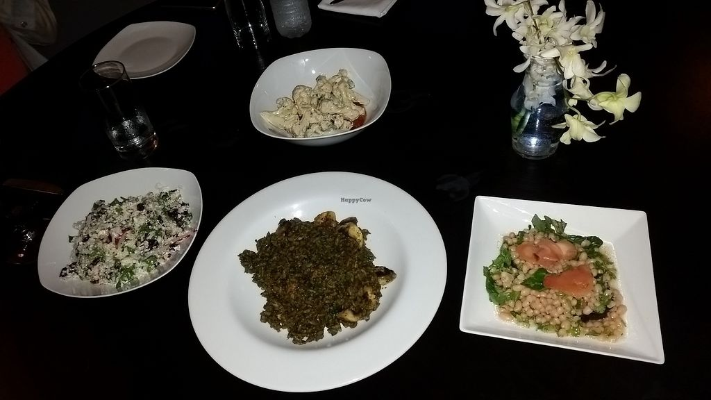 """Photo of Seasons by Shlomy  by <a href=""""/members/profile/vegan247"""">vegan247</a> <br/>Risotto, cauliflower, tabule etc <br/> November 27, 2017  - <a href='/contact/abuse/image/105096/329585'>Report</a>"""