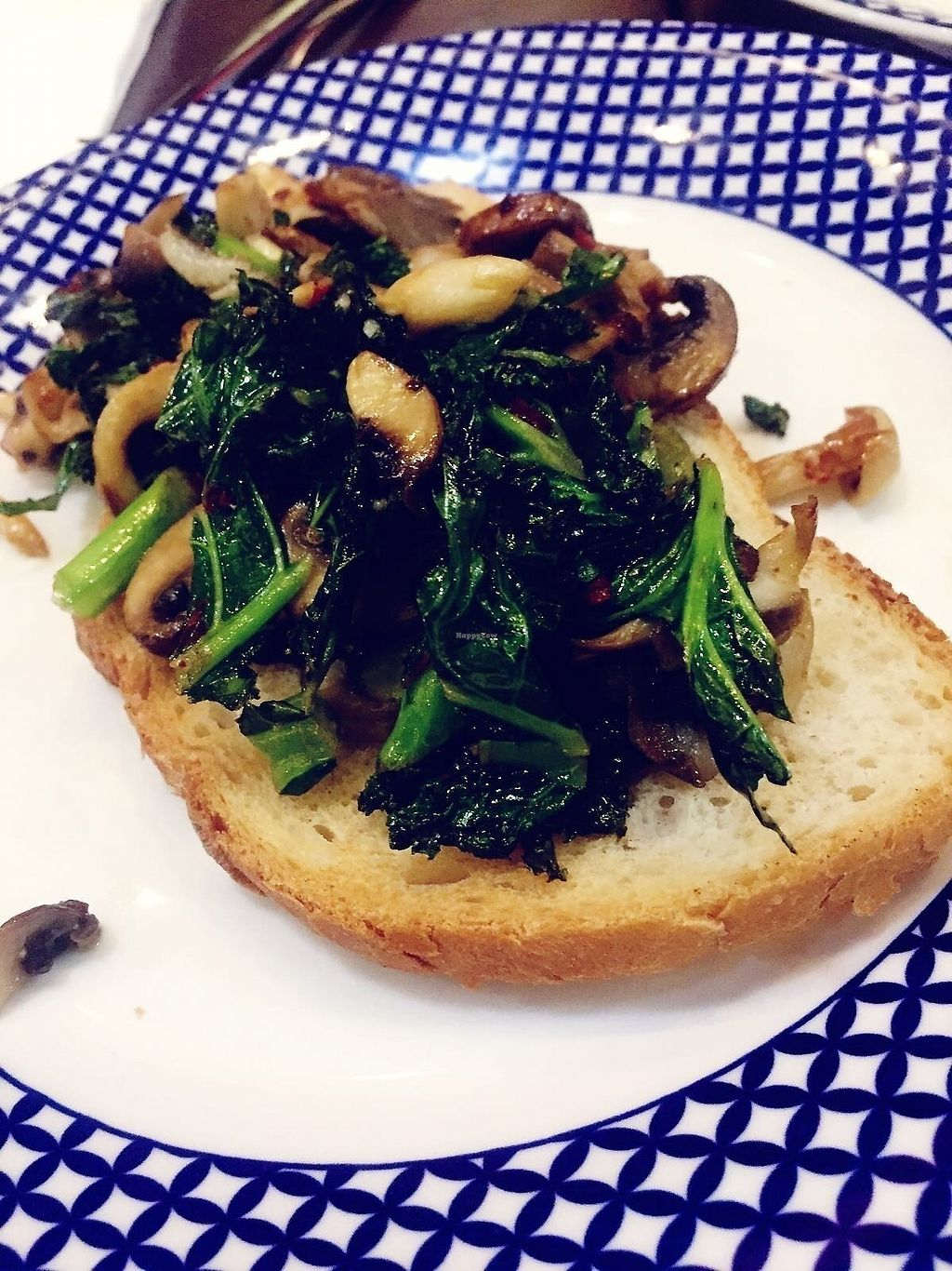 """Photo of Carluccio's - Airport T5  by <a href=""""/members/profile/TARAMCDONALD"""">TARAMCDONALD</a> <br/>Starter dish! Delicious, kale and mushroom on toast  <br/> November 16, 2017  - <a href='/contact/abuse/image/105098/326105'>Report</a>"""