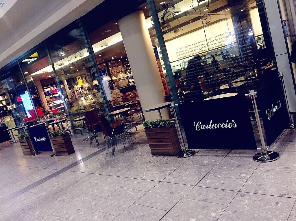 """Photo of Carluccio's - Airport T5  by <a href=""""/members/profile/TARAMCDONALD"""">TARAMCDONALD</a> <br/>Exterior, inside the airport before passport control and security check in :) <br/> November 16, 2017  - <a href='/contact/abuse/image/105098/326111'>Report</a>"""