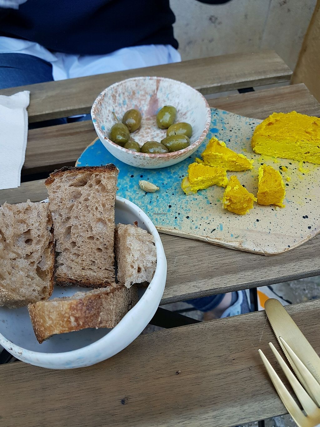 """Photo of My Mother's Daughters  by <a href=""""/members/profile/MichaelHenschel"""">MichaelHenschel</a> <br/>Delicious bread, olives, and Gary <br/> December 17, 2017  - <a href='/contact/abuse/image/105170/336553'>Report</a>"""