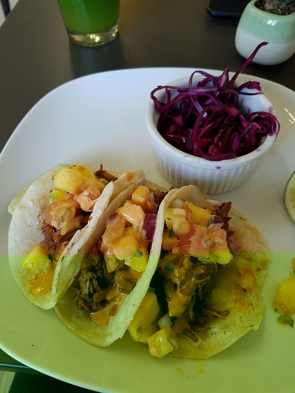 """Photo of Leaf  by <a href=""""/members/profile/gostofish"""">gostofish</a> <br/>jackfruit gf tacos  <br/> January 3, 2018  - <a href='/contact/abuse/image/105190/342625'>Report</a>"""