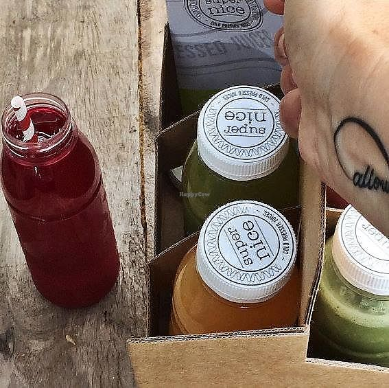 "Photo of Super Nice Cold Pressed Juices  by <a href=""/members/profile/ArnoldVanPutten"">ArnoldVanPutten</a> <br/>Delivery Service <br/> November 15, 2017  - <a href='/contact/abuse/image/105192/326012'>Report</a>"