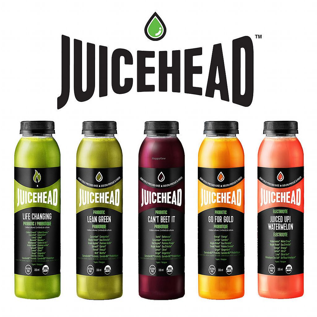 """Photo of Juicehead  by <a href=""""/members/profile/SeanNorton"""">SeanNorton</a> <br/>Juicehead line-up of awesome-tasting, certified-organic cold-pressed juices <br/> November 15, 2017  - <a href='/contact/abuse/image/105207/325998'>Report</a>"""