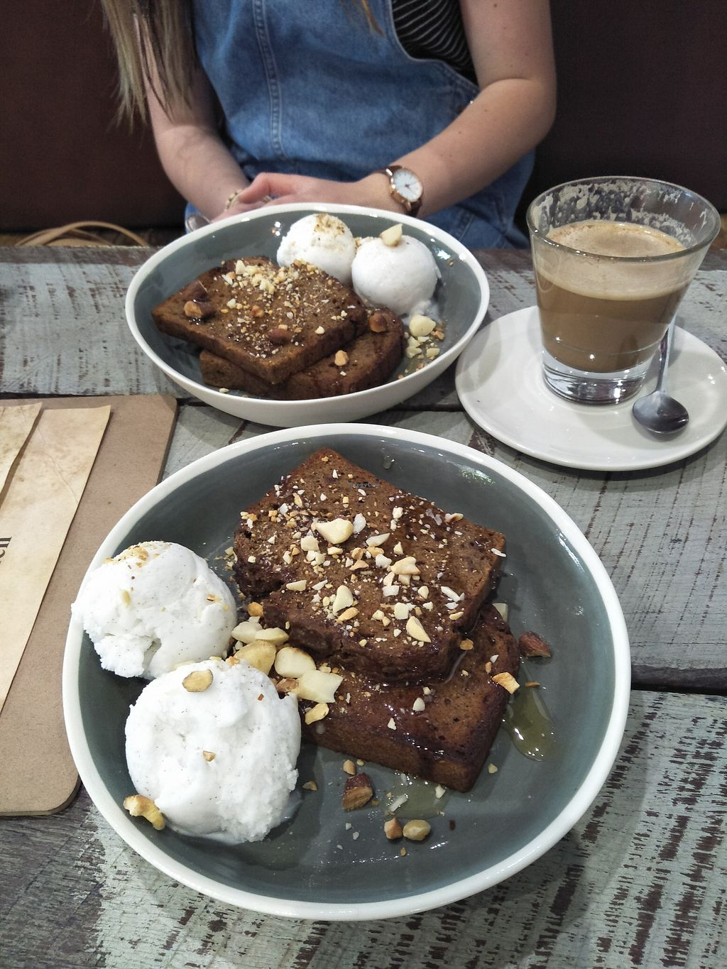 """Photo of Melo Velo  by <a href=""""/members/profile/Cynthia1998"""">Cynthia1998</a> <br/>Vegan banana bread with vegan Over the Moon coconut ice cream <br/> December 29, 2017  - <a href='/contact/abuse/image/105236/340403'>Report</a>"""