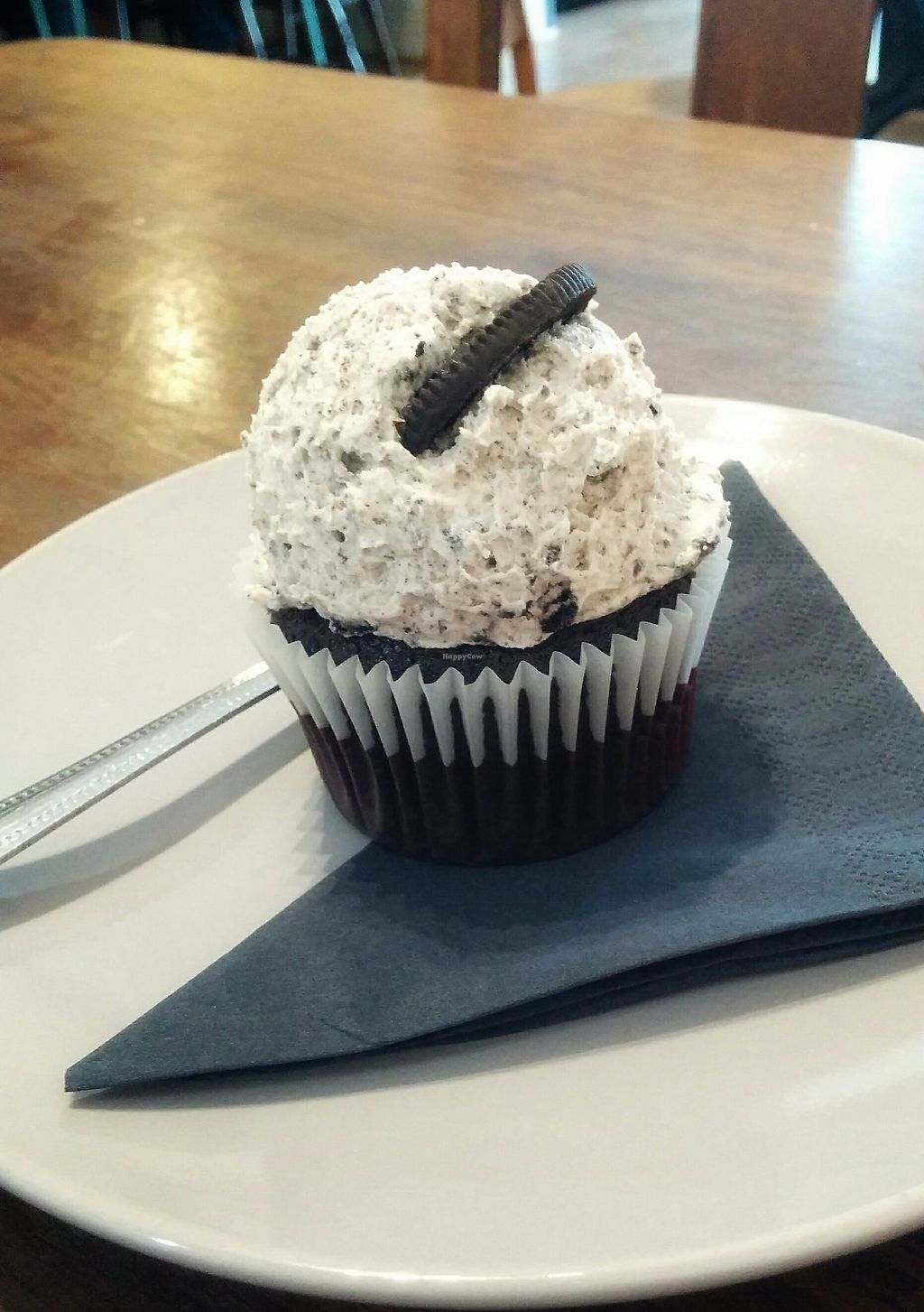 """Photo of Orchard Lane Coffee House  by <a href=""""/members/profile/Pupnik"""">Pupnik</a> <br/>Vegan Oreo cupcake <br/> November 16, 2017  - <a href='/contact/abuse/image/105314/326281'>Report</a>"""