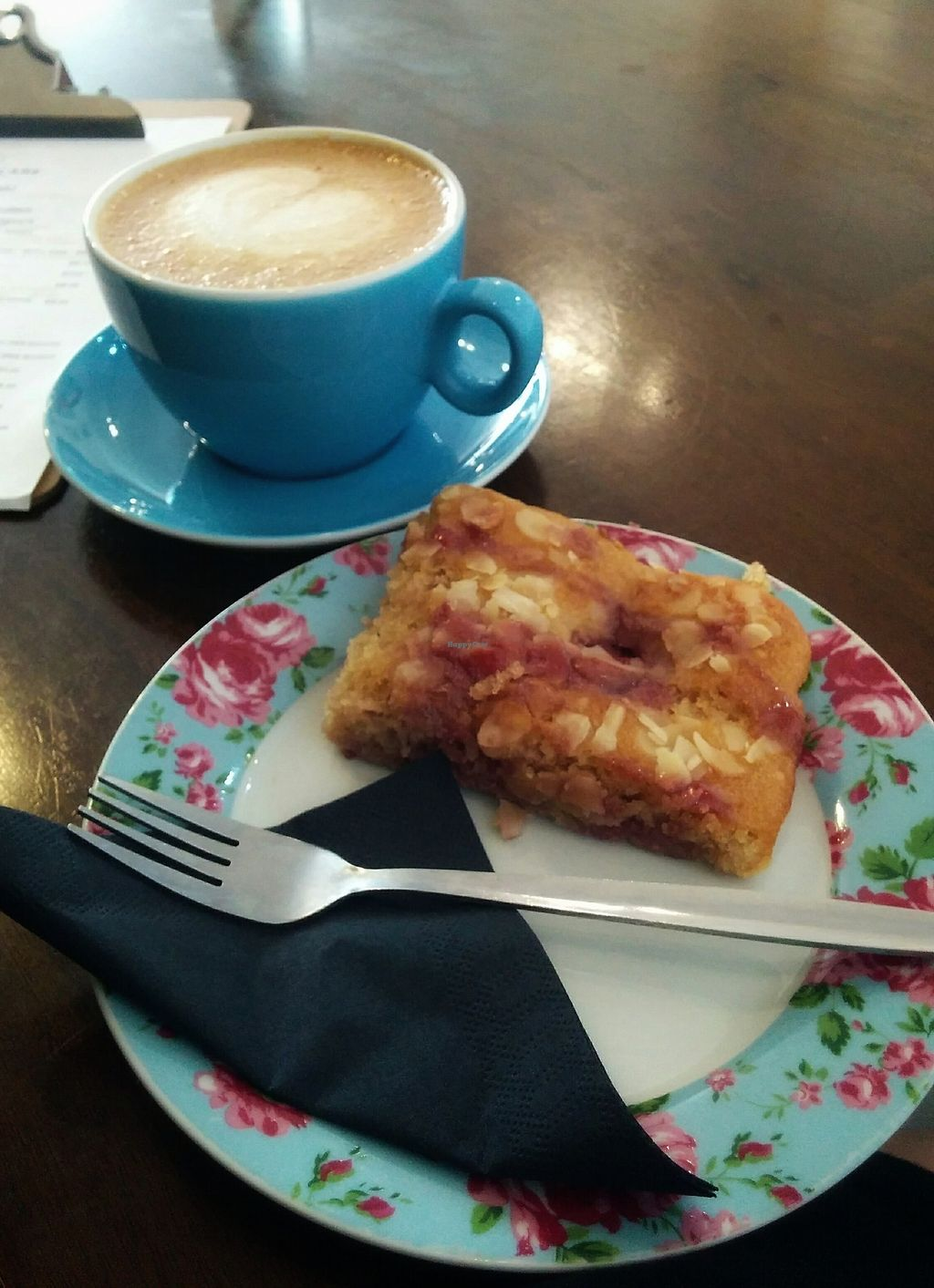 """Photo of Orchard Lane Coffee House  by <a href=""""/members/profile/Pupnik"""">Pupnik</a> <br/>Vegan raspberry slice <br/> November 16, 2017  - <a href='/contact/abuse/image/105314/326291'>Report</a>"""