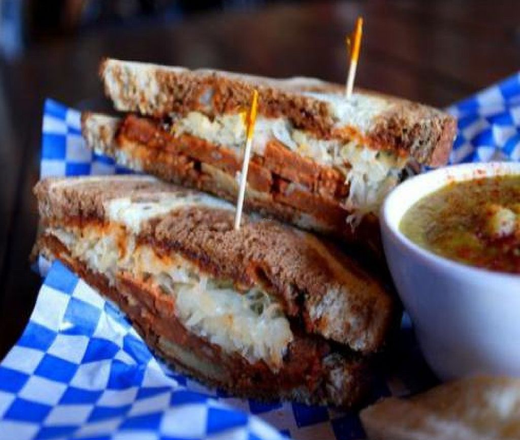 """Photo of Georgetown Liquor Company  by <a href=""""/members/profile/quarrygirl"""">quarrygirl</a> <br/>Darth Reuben: Roasted-tomato Field Roast, sauerkraut and remoulade toasted on marbled rye <br/> November 30, 2011  - <a href='/contact/abuse/image/10531/189457'>Report</a>"""