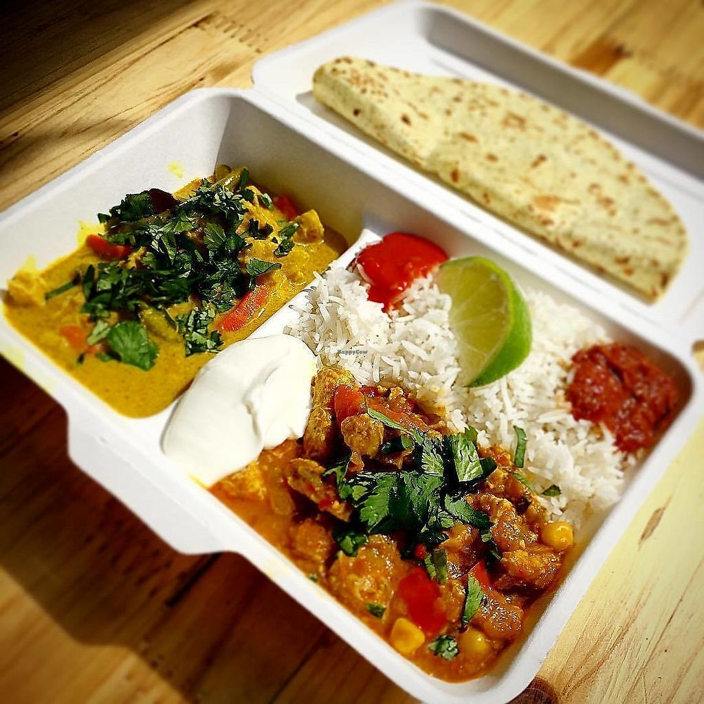 "Photo of Warung Tempeh - Food Stall  by <a href=""/members/profile/will_botak"">will_botak</a> <br/>Mixed Box, with additional flatbread. Incl vegan yogurt <br/> January 20, 2018  - <a href='/contact/abuse/image/105401/348805'>Report</a>"
