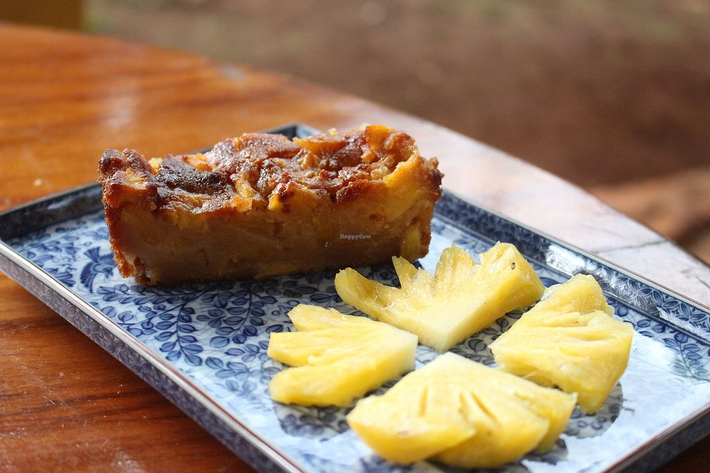 """Photo of Banlung Kitchen  by <a href=""""/members/profile/ClairetteB"""">ClairetteB</a> <br/>Vegan Pineapple cake  <br/> November 19, 2017  - <a href='/contact/abuse/image/105415/326868'>Report</a>"""