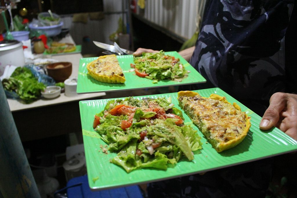 """Photo of Banlung Kitchen  by <a href=""""/members/profile/ClairetteB"""">ClairetteB</a> <br/>Mushroom Quiche with salad <br/> November 19, 2017  - <a href='/contact/abuse/image/105415/326872'>Report</a>"""