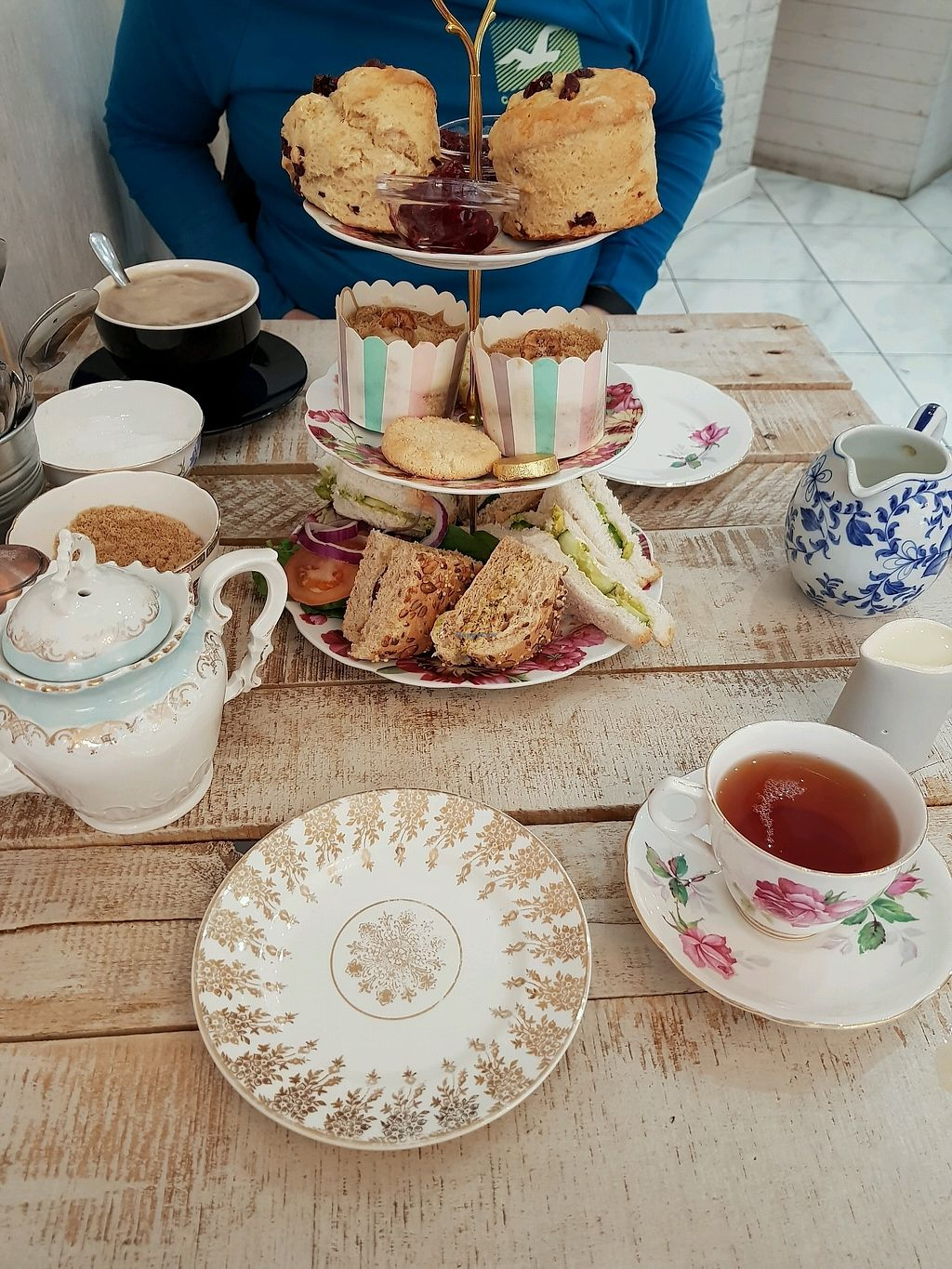 """Photo of Mr & Mrs C's  by <a href=""""/members/profile/JemmaGordon"""">JemmaGordon</a> <br/>vegan afternoon tea  <br/> March 18, 2018  - <a href='/contact/abuse/image/105416/372629'>Report</a>"""