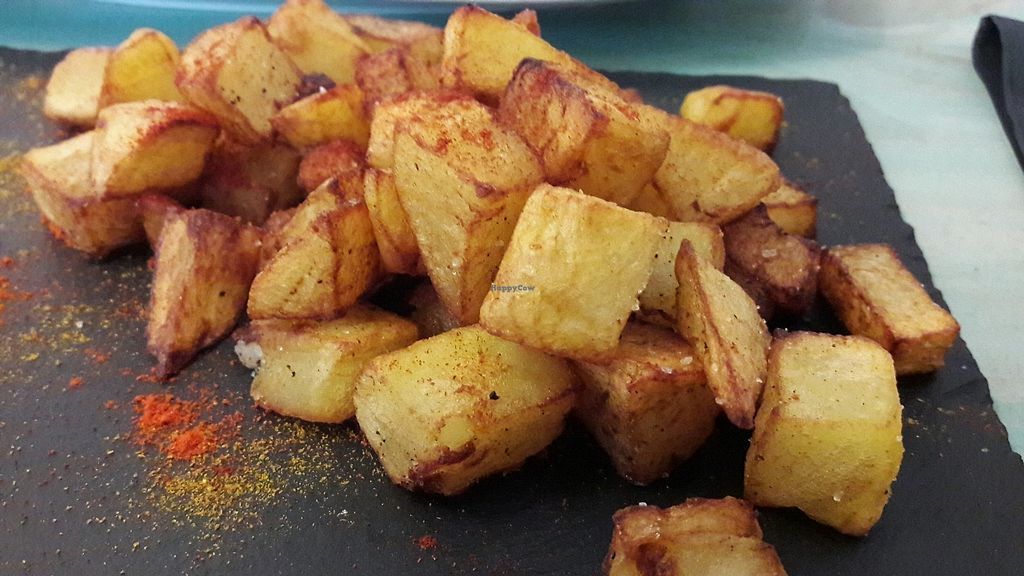 "Photo of Amaranta biobar  by <a href=""/members/profile/Veganolive1"">Veganolive1</a> <br/>Patatas Bravas  <br/> December 15, 2017  - <a href='/contact/abuse/image/105425/335772'>Report</a>"