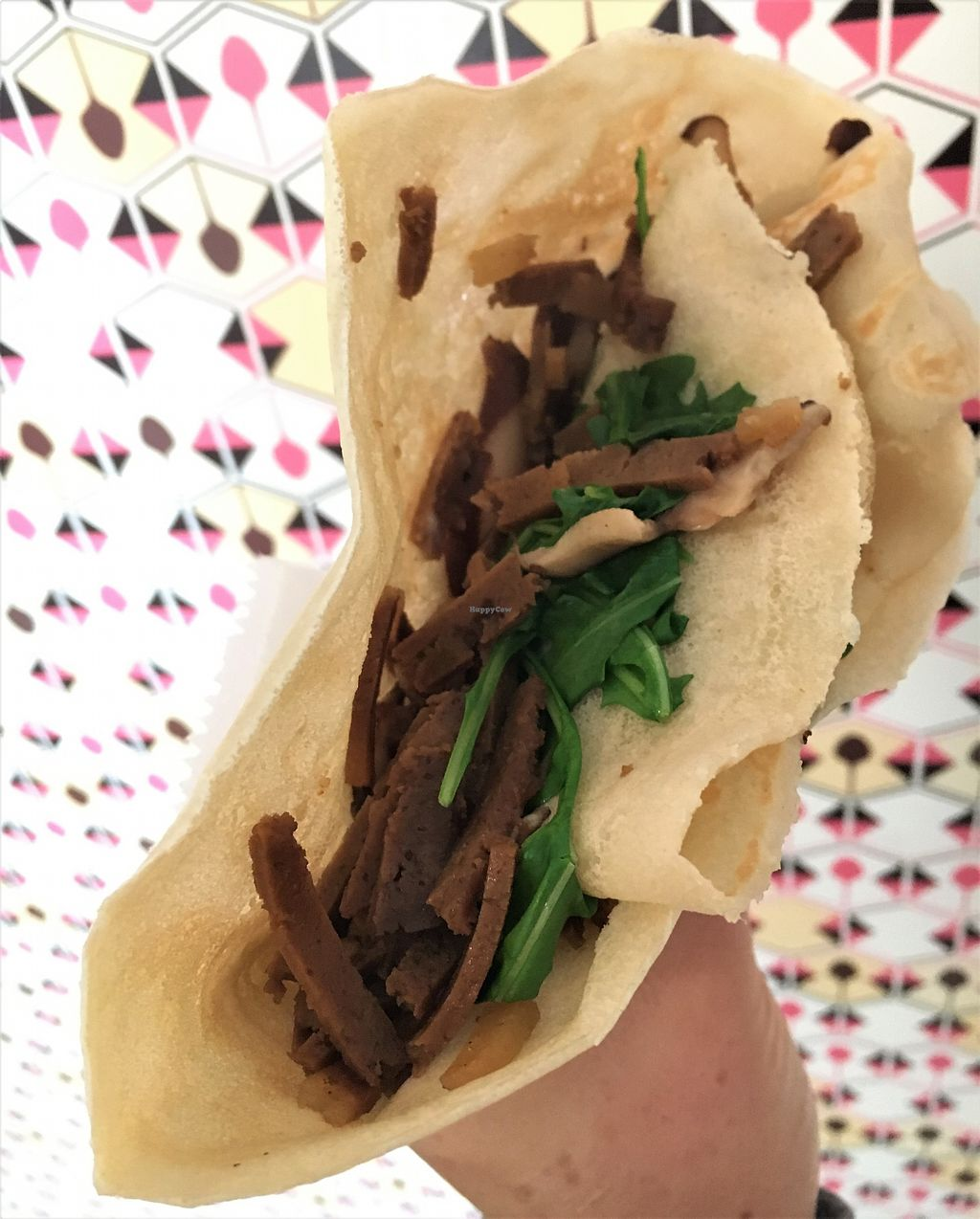 """Photo of Crepe and Spoon  by <a href=""""/members/profile/Laura1G2C"""">Laura1G2C</a> <br/>Bacon and Arugula Crepe <br/> December 1, 2017  - <a href='/contact/abuse/image/105438/331223'>Report</a>"""