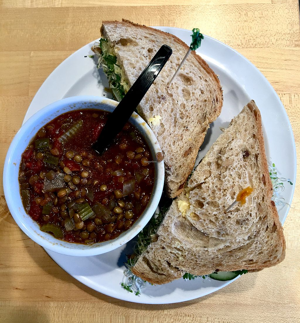 "Photo of Boise Co-op  by <a href=""/members/profile/ChereseTarter"">ChereseTarter</a> <br/>Persian Vegan Sandwich with Vegan French Lentil Soup <br/> March 18, 2018  - <a href='/contact/abuse/image/105448/372404'>Report</a>"