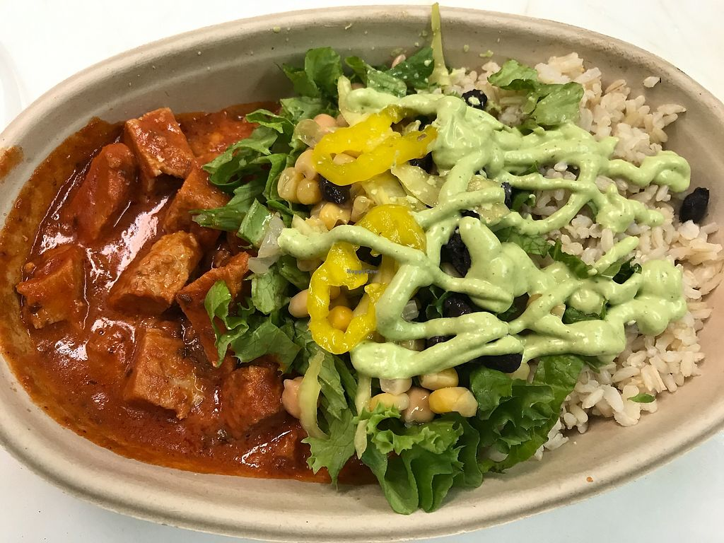 "Photo of Vegorama  by <a href=""/members/profile/AlexaVitale"">AlexaVitale</a> <br/>Mmm Butter Chick'n Buddha Bowl with Brown Rice, Greens, black beans and a drizzle of sauces!  <br/> December 6, 2017  - <a href='/contact/abuse/image/105472/332932'>Report</a>"