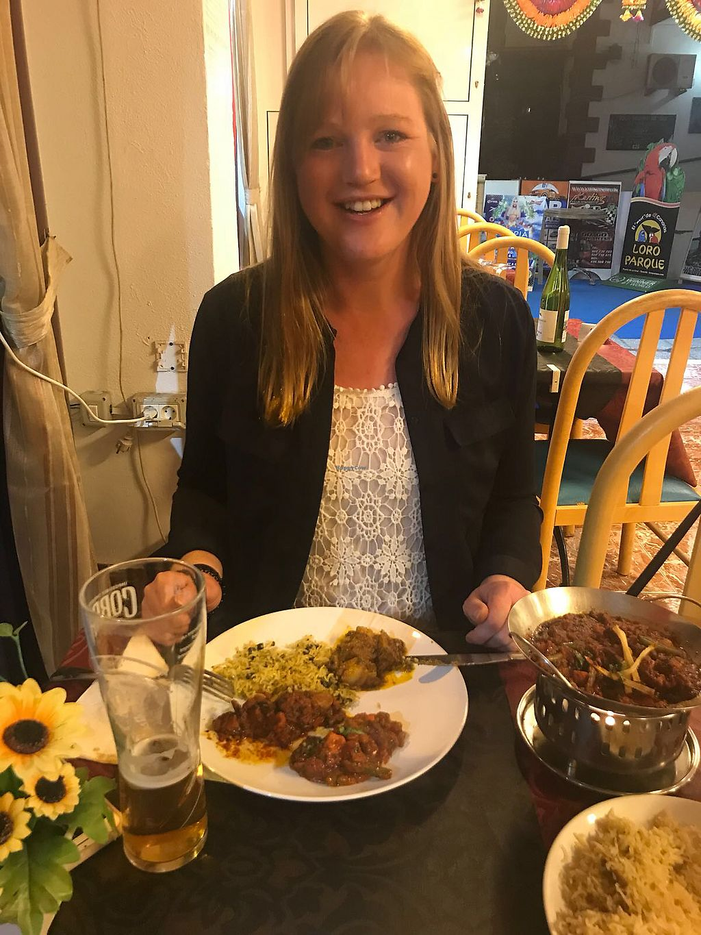 """Photo of Mayas Tandoori and Curry House  by <a href=""""/members/profile/CindyKuper"""">CindyKuper</a> <br/>Happy girl <br/> February 20, 2018  - <a href='/contact/abuse/image/105499/361825'>Report</a>"""