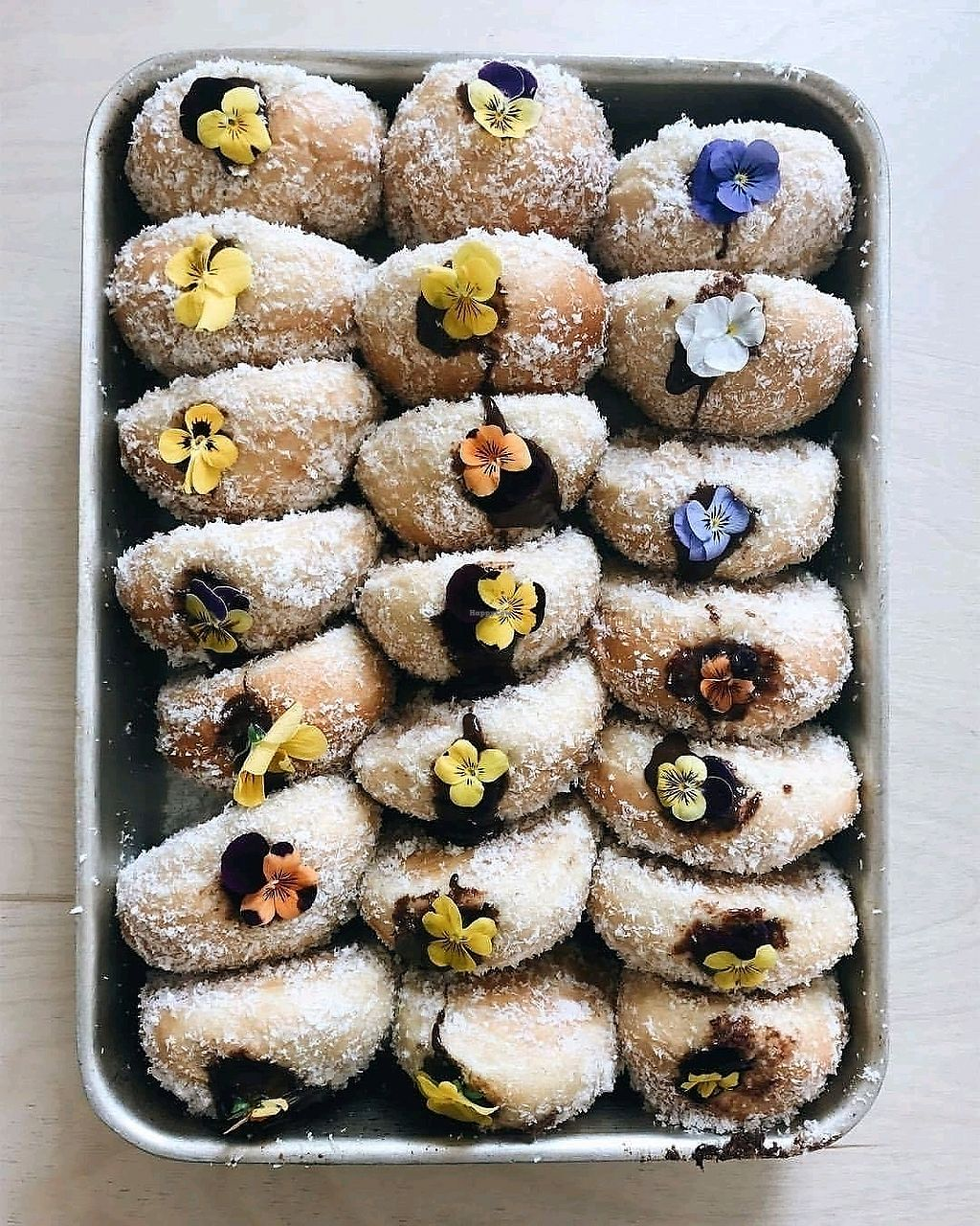 """Photo of Upshot Espresso  by <a href=""""/members/profile/Meaks"""">Meaks</a> <br/>Dark chocolate and coconut doughnuts <br/> November 27, 2017  - <a href='/contact/abuse/image/105502/329550'>Report</a>"""