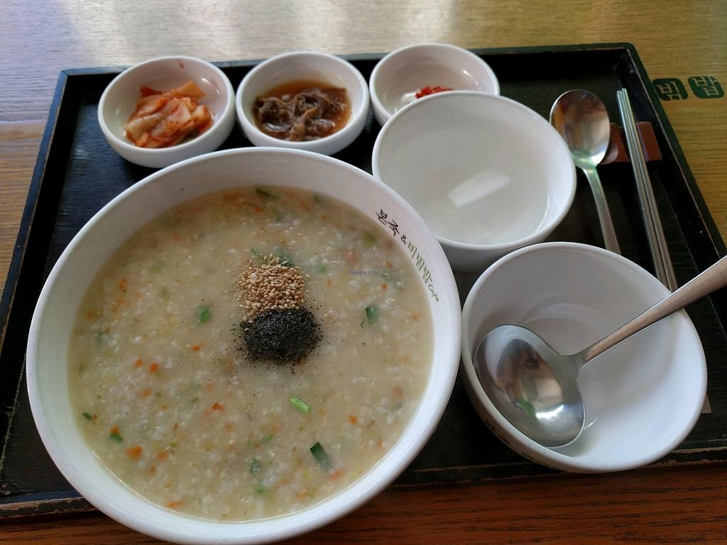 """Photo of Bonjuk and Bibimbap - Seocho Court  by <a href=""""/members/profile/PhillipPark"""">PhillipPark</a> <br/>vegetable porridge <br/> December 1, 2017  - <a href='/contact/abuse/image/105518/331149'>Report</a>"""