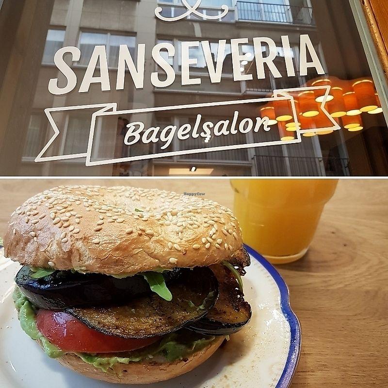 "Photo of Sanseveria Bagelsalon   by <a href=""/members/profile/TrudiBruges"">TrudiBruges</a> <br/>egg plant avocado bagel  <br/> November 29, 2017  - <a href='/contact/abuse/image/105543/330594'>Report</a>"