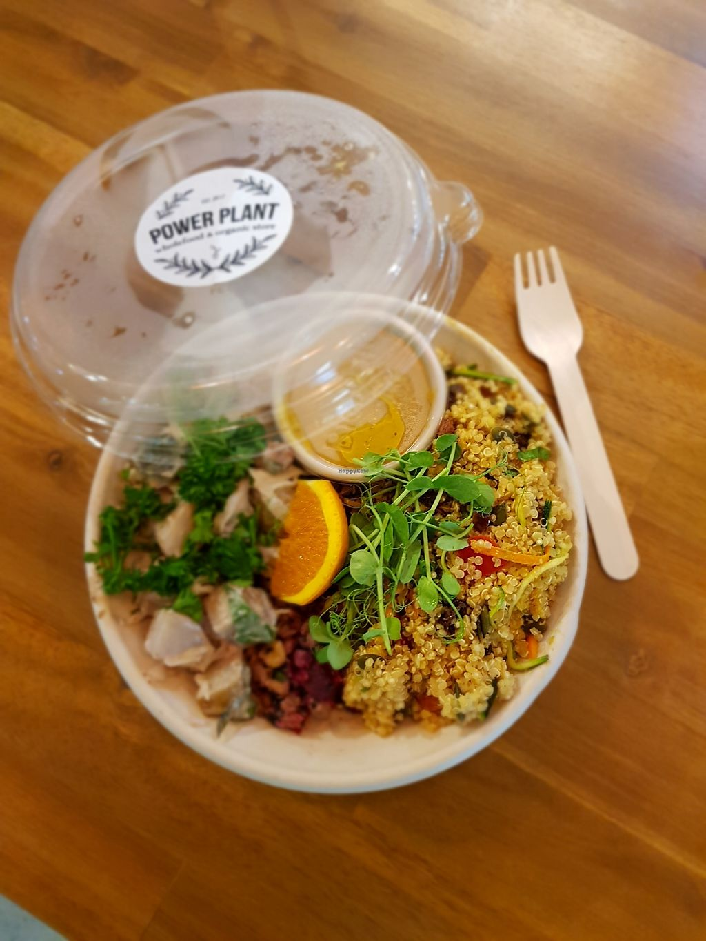 """Photo of Power Plant  by <a href=""""/members/profile/JasmineFuller"""">JasmineFuller</a> <br/>Trio salad bowl - three different salads and a sauce on the side all in one handy takeaway bowl <br/> December 12, 2017  - <a href='/contact/abuse/image/105547/334891'>Report</a>"""