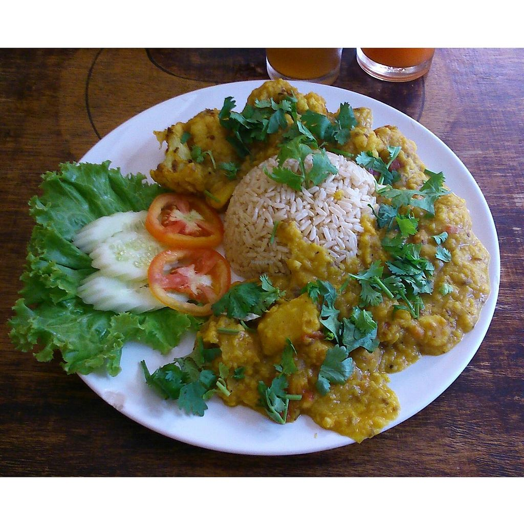 """Photo of Ethos  by <a href=""""/members/profile/annamolesworth"""">annamolesworth</a> <br/>Dahl and brown rice with cauliflower and potatoes! It tastes authentically Indian! <br/> May 24, 2015  - <a href='/contact/abuse/image/10554/103305'>Report</a>"""