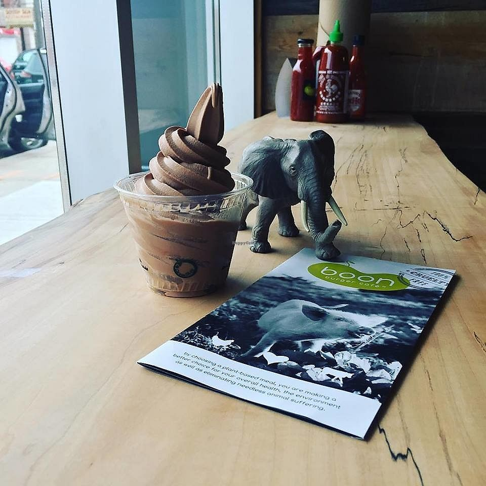 """Photo of Boon Burger Cafe  by <a href=""""/members/profile/BoonHamilton"""">BoonHamilton</a> <br/>Chocolate soft serve <br/> December 13, 2017  - <a href='/contact/abuse/image/105555/335299'>Report</a>"""
