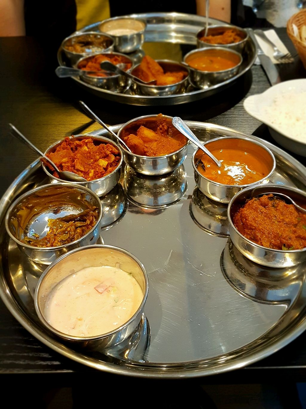 "Photo of Chai Station - Vegetarian Indian  by <a href=""/members/profile/Hoggy"">Hoggy</a> <br/>Vegan Thali <br/> December 7, 2017  - <a href='/contact/abuse/image/105568/333227'>Report</a>"