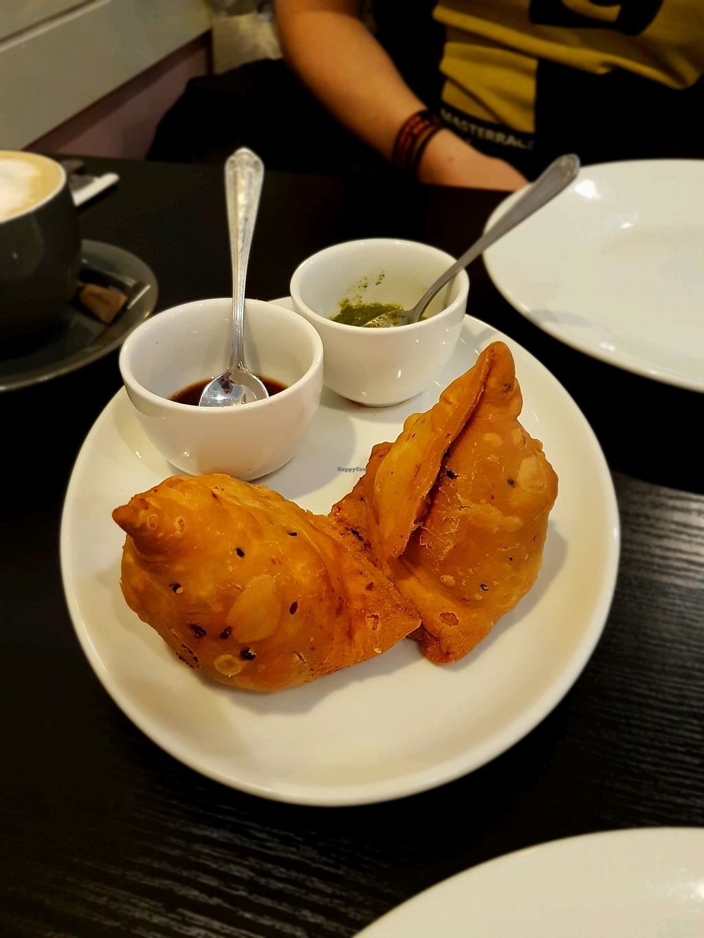 "Photo of Chai Station - Vegetarian Indian  by <a href=""/members/profile/Hoggy"">Hoggy</a> <br/>Vegan samosa (part of thali)  <br/> December 7, 2017  - <a href='/contact/abuse/image/105568/333228'>Report</a>"